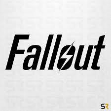 Fallout 4 Game Logo Decal Fallout Logo Sticker Fallout 4 Decals Fallout Stickers Fallout Decals Fallout Logo Fallout Logo Sticker