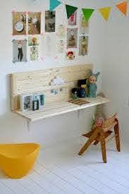 Rachelle Of Kenziepoo Made A Desk For Her Daughter S Room Using Two Wooden Boards And A Pair Of M Kinder Zimmer Kinderzimmer Zubehor Schreibtische Kinderzimmer