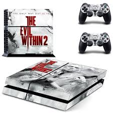 The Evil Within 2 Ps4 Skin Sticker Decal For Sony Playstation 4 Console And 2 Controllers Ps4 Skin Sticker Vinyl Decal Skin Sticker Decal Stickersony 4 Stickers Aliexpress