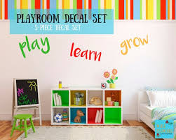 Playroom Wall Decal Set Kids Room Decor Etsy