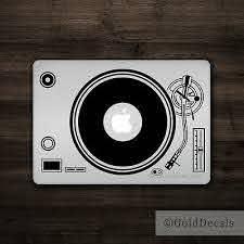 Dj Turntable Mac Apple Logo Laptop Vinyl Decal Sticker Macbook Music Record Ebay
