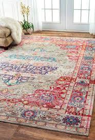 bohemian décor bold colorful rugs