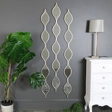 decorative silver ripple wall mirrors