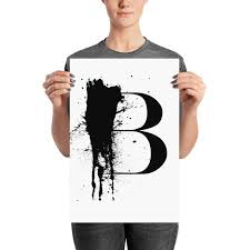 Letter B Abstract Calligraphy Modern Calligraphy Custom Etsy