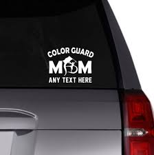 Color Guard Mom Vinyl Decal Car Decal Personalized Etsy
