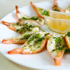 roasted erflied prawns in garlic