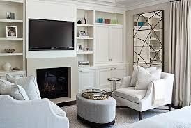 tv built ins transitional bedroom