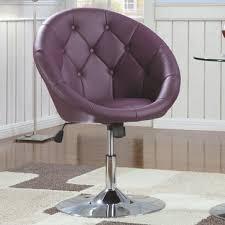 round purple adjustable swivel chair