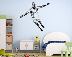 Cristiano Ronaldo Wall Decal Soccer Player Decal Boys Room Etsy