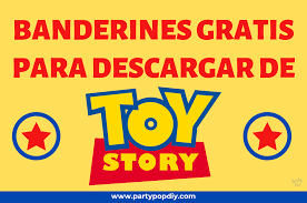 Banderines Toy Story Party Pop