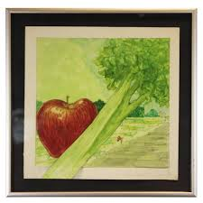 Jack Boynton - Untitled Still Life with an Apple and Celery For Sale at  1stDibs