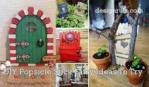 25 Diy Fairy Door Ideas From Popsicle Or Wooden Craft Sticks Rocks