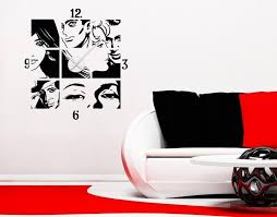 Comic Wall Decal Clock Style And Apply
