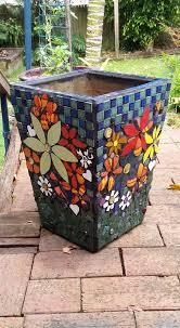 mosaic flower pots mosaic planters