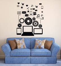 Removable Vinyl Wall Decal Social Network Communication Gadgets Stickers Bedroom Stickers Boys Art Decoration Vinilos Ny 250 Stickers Boy Vinyl Wall Decalsbedroom Stickers Aliexpress