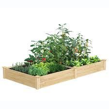 Greenes Fence 4 Ft X 8 Ft X 10 5 In Original Cedar Raised Garden Bed Rc6t21b In 2020 Cedar Raised Garden Beds Garden Beds Raised Garden Beds