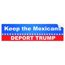 Keep The Mexicans Deport Trump Bumper Sticker Zazzle Com