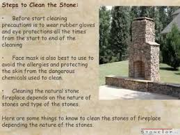 how to clean fireplace stone stone
