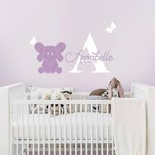 Elephant And Custom Name Decal Nursery Wall Decal Pinknbluebaby Com