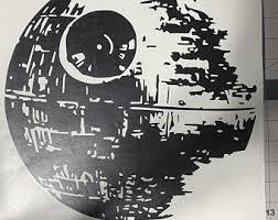 Death Star Decal Etsy