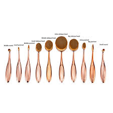 sofeel 10pcs oval makeup brush private