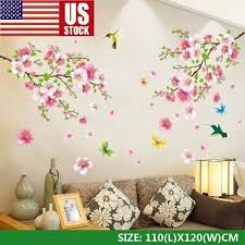 Cherry Blossom Wall Decal Pink Flower Tree Wall Decal For Nursery Decoration Usa For Sale Online