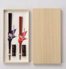 natural wood chopsticks couple gift set
