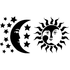 2020 15 8cm Sun Moon Stars Heaven Car Window Vinyl Decal Sticker Fantasy Personality Vinyl Sticker Unique Car Styling From Xymy787 4 53 Dhgate Com