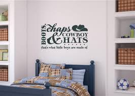 Boots Chaps Cowboy Hats Little Boys Room Decor Vinyl Decal Wall Stickers Lettering