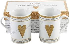 50th golden wedding anniversary gift