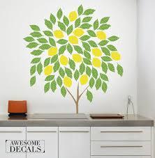 Lemon Tree Wall Decal Tree Decal Wall Decal Tree Custom Etsy