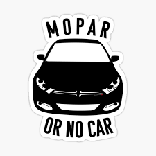 Mopar Or No Car Sticker By Jessimk Redbubble