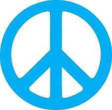 4 5in X 4 5in Blue Peace Symbol Bumper Sticker Decal Car Window Stickers Decals Stickertalk