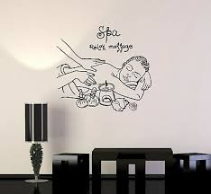 Vinyl Wall Decal Spa Massage Woman Relax Salon Therapy Stickers Mural Ig5124 Ebay