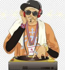 hip hop disc jockey cartoon
