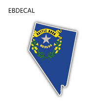Ebdecal Nevada State Map Flag For Auto Car Bumper Window Wall Decal Sticker Decals Diy Decor Ct11807 Car Stickers Aliexpress