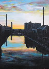 City canal Painting by Byron Bailey