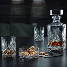 crystal whisky decanter tumblers set