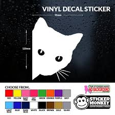 Peeping Cat Kitten Vinyl Decal Sticker For Car Van Truck Etsy