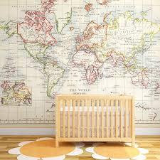 World Map Wall Murals Wallpaper Modern Affordable 41 Orchard Map Wall Mural Kids Room Murals Vintage Kids Room