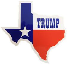 State Of Texas Flag Map Trump Vinyl Decal Bumper Sticker Ebay