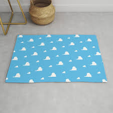 Kids Room Clouds Sky Wallpaper Rug By Histrionicole Society6
