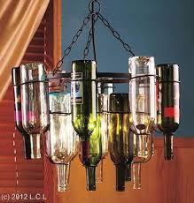 wine bottle chandelier frame light