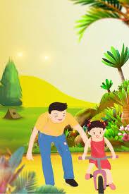 جولة الربيع رسوم متحركة ملصق جولة الوالدين والطفل السعادة طفولي