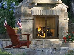 fireplace stone patio