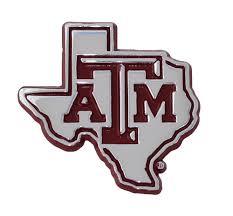Texas A M Metal Auto Emblem Texas Flag Logo Amg Bumper Stickers Decals Magnets Exterior Accessories