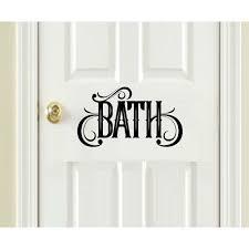 Door Signs Choose From Kitchen Bath Laundry Or All Three Wall Or Door Decal Bath Walmart Com Walmart Com