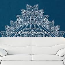 Bohemian Mandala Flower Bedside Vinyl Decal Decor Accessories Pvc Bedroom Beautiful Diy Wall Sticker Global Sources