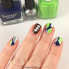 seattle seahawks nail art swatch the