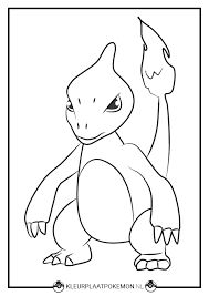 Charmeleon Kleurplaten Gratis Printen Kleurplaat Pokemon